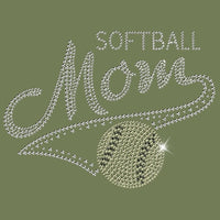 Softball Mom - Rhinestones T Shirt