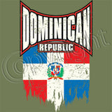 Dominican Republic Distressed Flag T Shirt