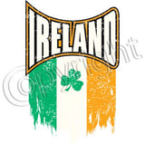 Ireland Distressed Flag T Shirt