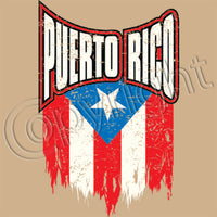 Puerto Rico Distressed Flag T Shirt