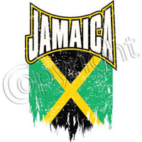 Jamaica distressed Flag T Shirt