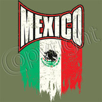 Mexico Distressed Flag T Shirt