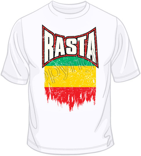 Rasta Distressed Flag T Shirt