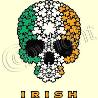 Irish Shamrock Skull (Oversized) T Shirt