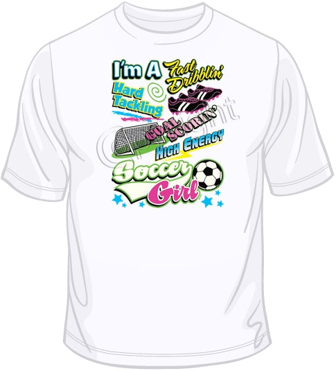 Soccer Girl - Neon T Shirt