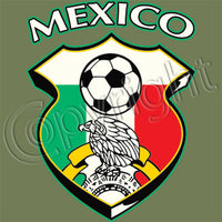 Mexico Soccer Shield T Shirt