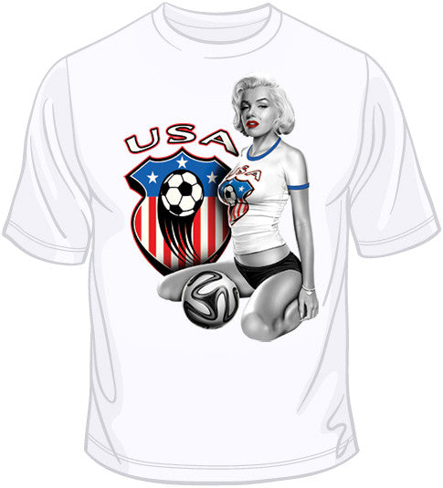 USA Soccer Marilyn T Shirt