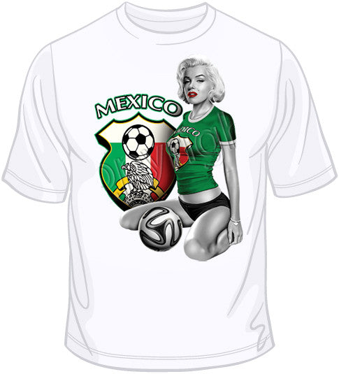 Mexico Soccer Marilyn T Shirt