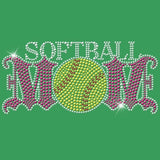 Softball Mom - Rhinestones & Pink Nailheads T Shirt