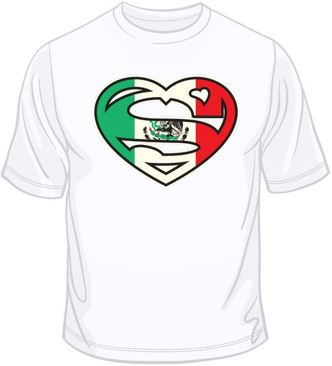 Super Mexican Heart T Shirt