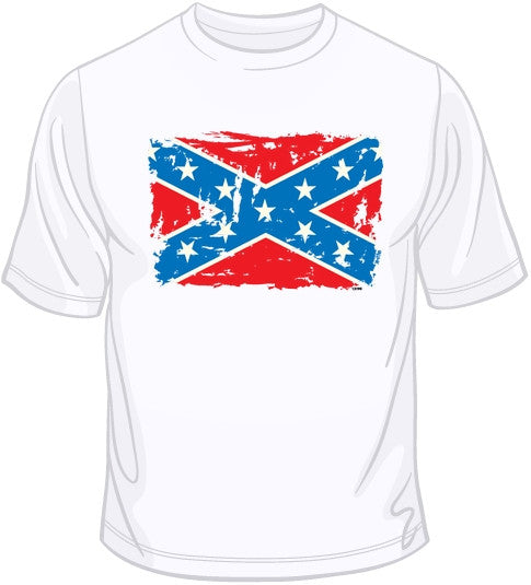 Confederate Flag Distressed T Shirt