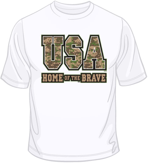 USA Home of the Brave T Shirt