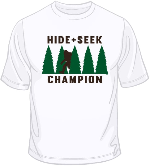 ee7ea049c Hide & Seek Champion Bigfoot T Shirt | BoardwalkTees.com