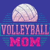 Volleyball Mom - Glitter T Shirt