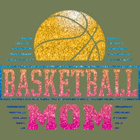 Basketball Mom - Glitter T Shirt