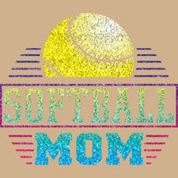 Softball Mom - Glitter T Shirt