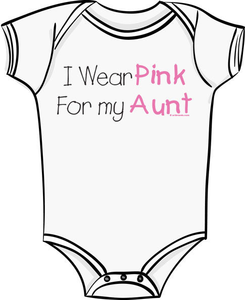 I Wear Pink For My Aunt - Breast Cancer Awareness T Shirt