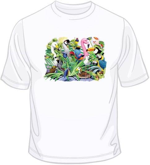 Animal Magic Birds Landscape T Shirt
