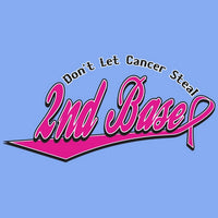 Steal 2nd Base - Breast Cancer Awareness T Shirt