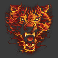 Flaming Wolf (full size print) T Shirt