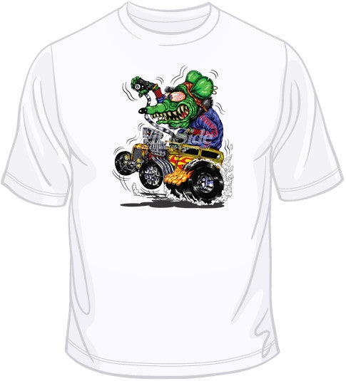Hot Rod T Shirts >> Green Monster Yellow Hot Rod T Shirt Boardwalktees Com