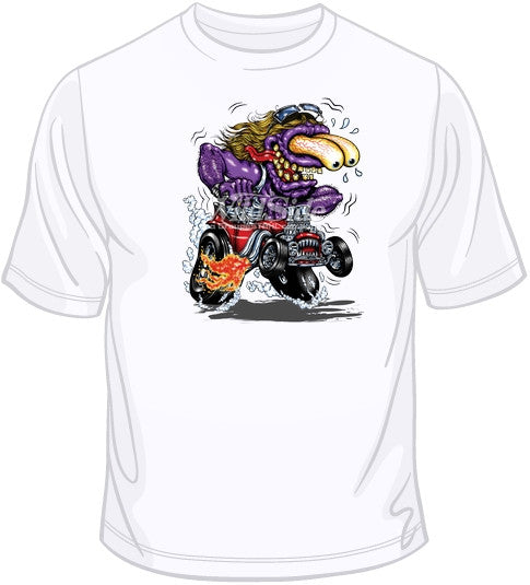 Purple Monster Red Hot Rod T Shirt
