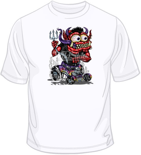 Red Monster Purple Hot Rod T Shirt