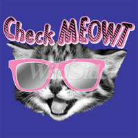 Check Meowt - Cat With glasses T Shirt