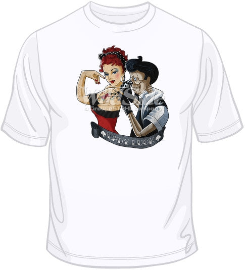 Lady Luck Tattoo Woman T Shirt