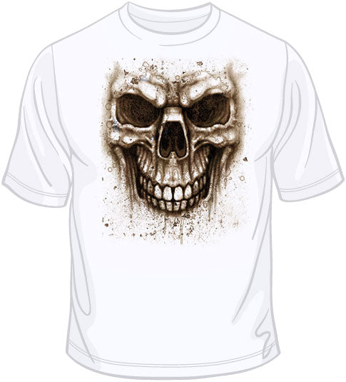 Stained Skull (oversized print) T Shirt
