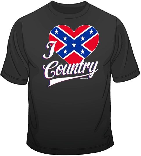 I Love Country T Shirt