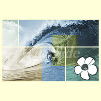 Surfer Wave Hibiscus Mosaic T Shirt