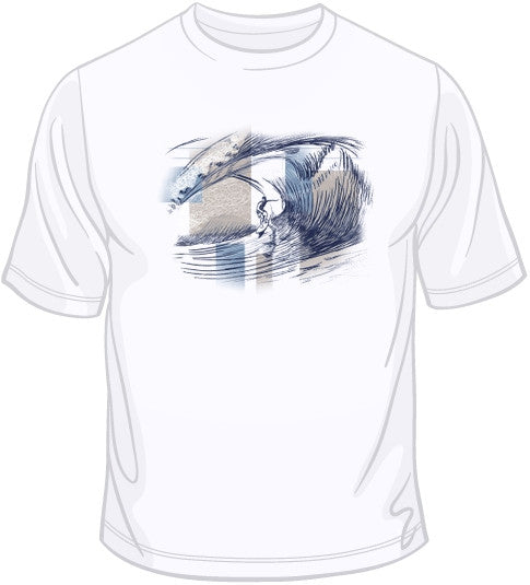 Surfer In Wave Tube T Shirt