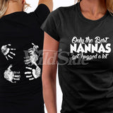 Only the Best Nanna Get Hugged T Shirt