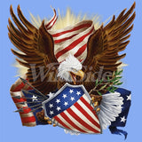 Patriotic Eagle w/ Shield T Shirt