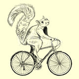 Squirrel Riding Bike T Shirt