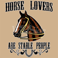 Horse Lovers are Stable People T Shirt