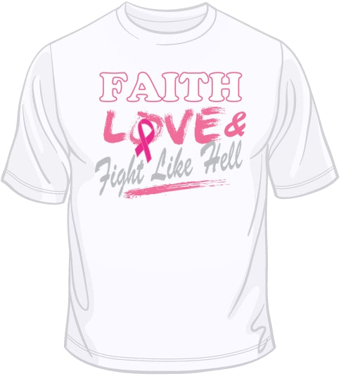 Fight Like Hell - Breast Cancer Awareness T Shirt