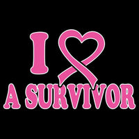 I Love A Survivor - Breast Cancer Awareness T Shirt