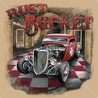 Rust Bucket Vintage Hot Rod T Shirt