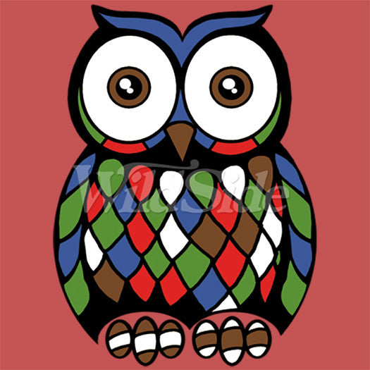 Colorful Mosaic Owl T Shirt
