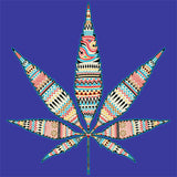 Pot Leaf - Multi Pastel T Shirt