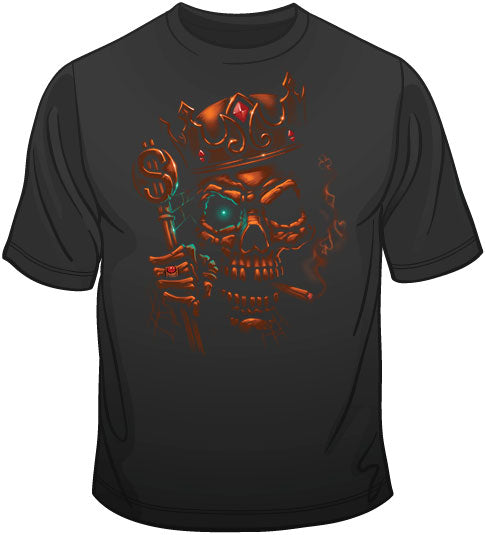 Skull King (oversized print) T Shirt