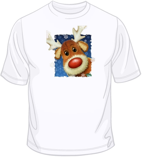 Rudolph Face - Christmas T Shirt