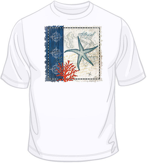 Coastal Blue Starfish T Shirt