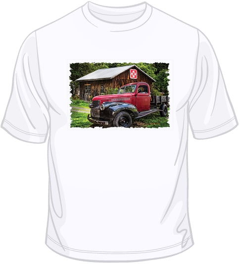 Red & Black - Old Time Truck T Shirt