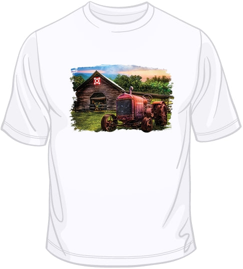 Rusty Red - Old Time Tractor T Shirt