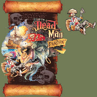 Dead Man Partyin Scroll - Double Sided T Shirt