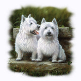 Two Westies - Dogs T Shirt