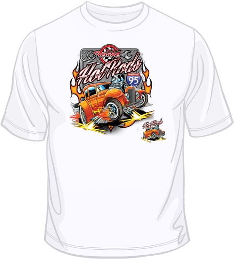 Hot Rod T Shirts >> Custom Garage Hot Rod T Shirt